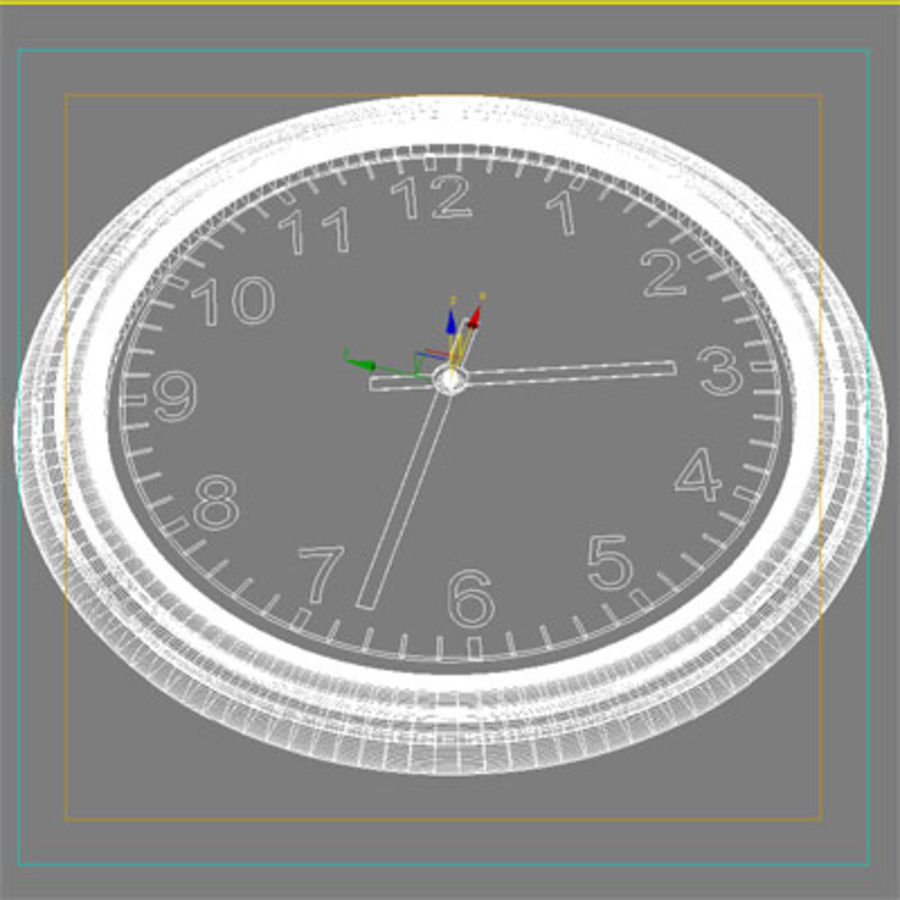 clock 07 royalty-free 3d model - Preview no. 4