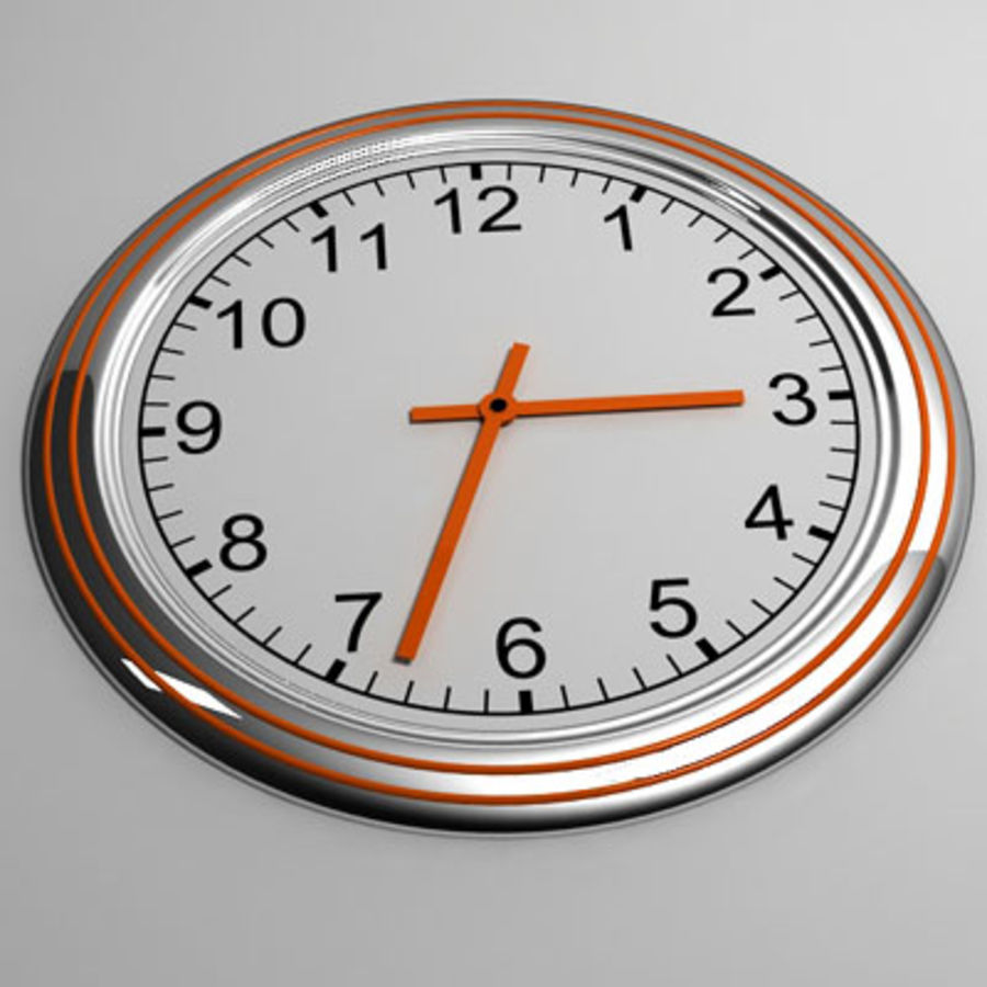 clock 07 royalty-free 3d model - Preview no. 2