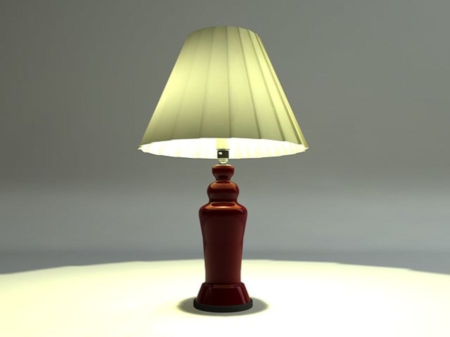 Table lamp royalty-free 3d model - Preview no. 2