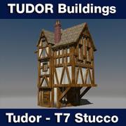 T7 Tudor style medieval building - STUCCO 3d model