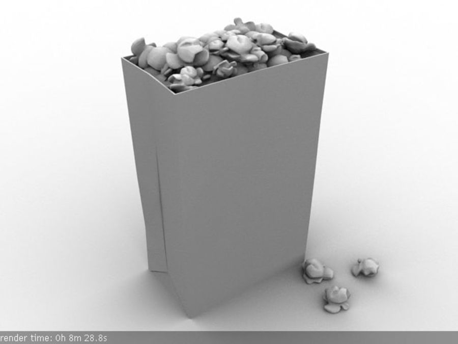 popcorn_box_maya royalty-free 3d model - Preview no. 2