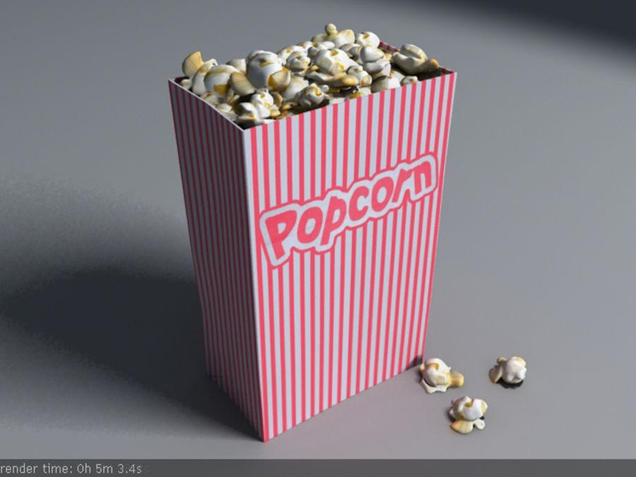 popcorn_box_maya royalty-free 3d model - Preview no. 1