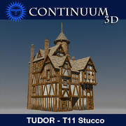 T11 Tudor style medieval building - The Rectory - STUCCO 3d model