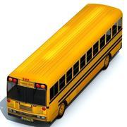 Lage poly schoolbus 3d model