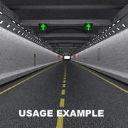 Road Tunnel UT 3d model