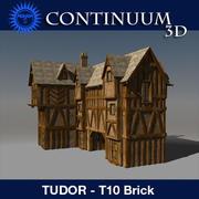 T10 Tudor style medieval building - BRICK 3d model