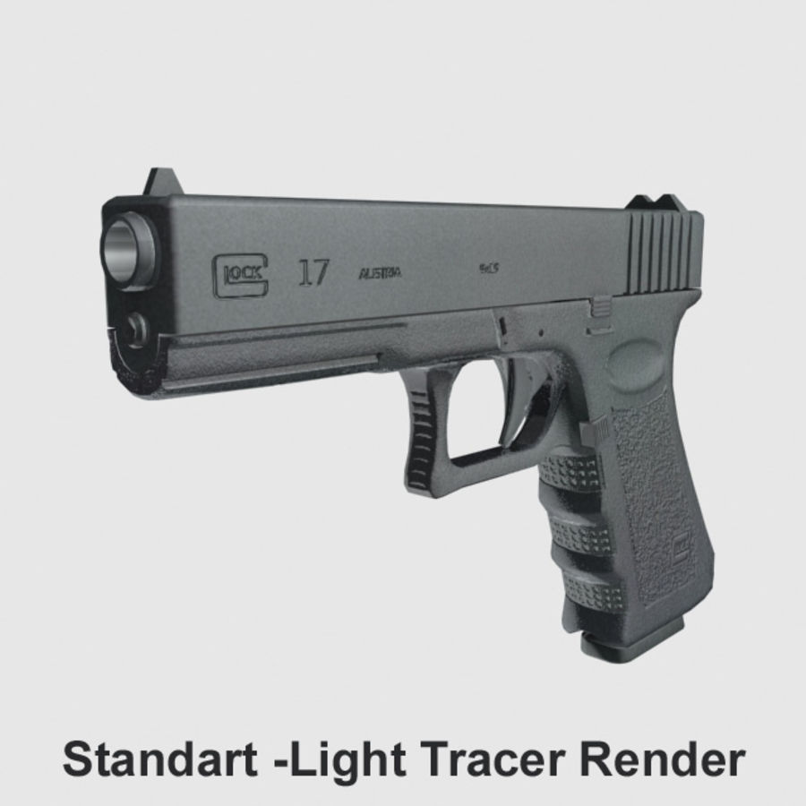 Glock 17 royalty-free 3d model - Preview no. 11