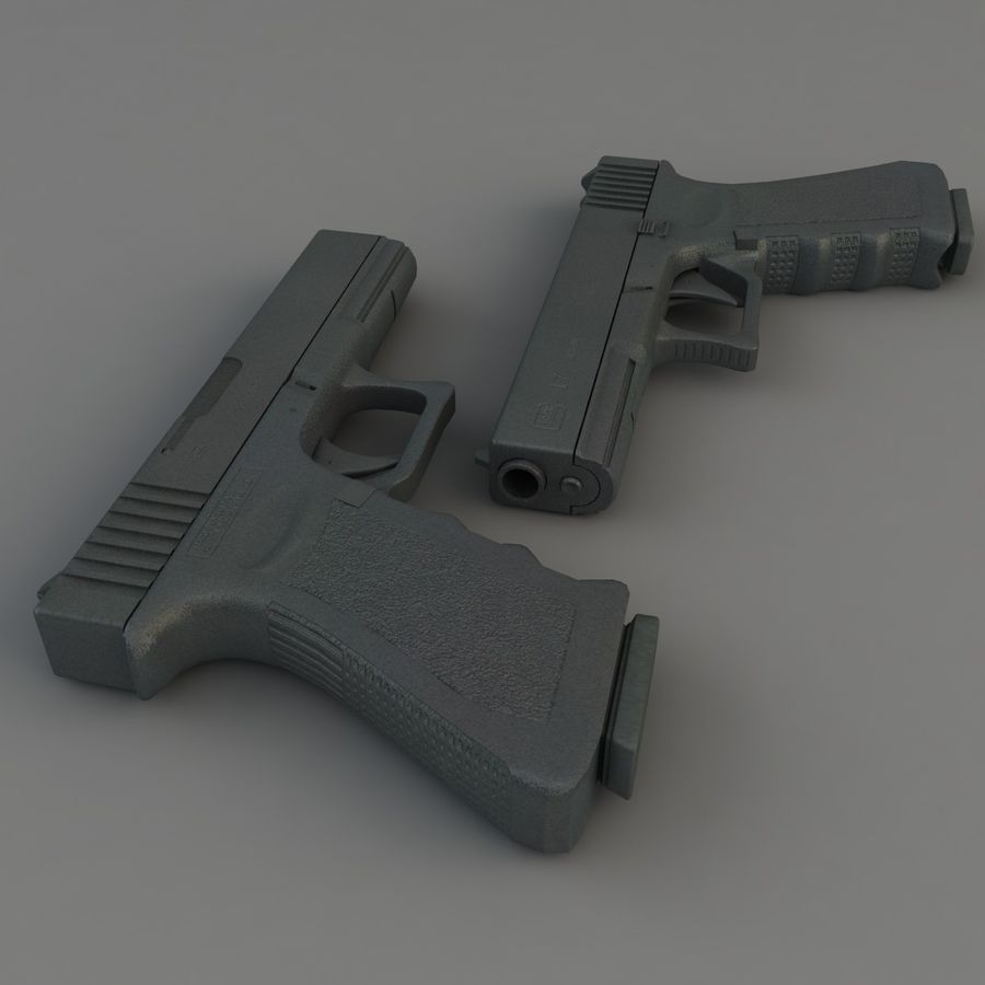 Glock 17 royalty-free 3d model - Preview no. 8