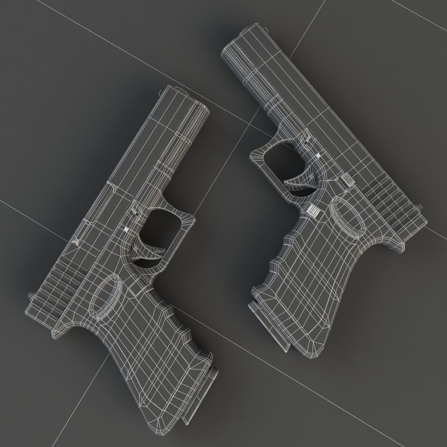 Glock 17 royalty-free 3d model - Preview no. 6