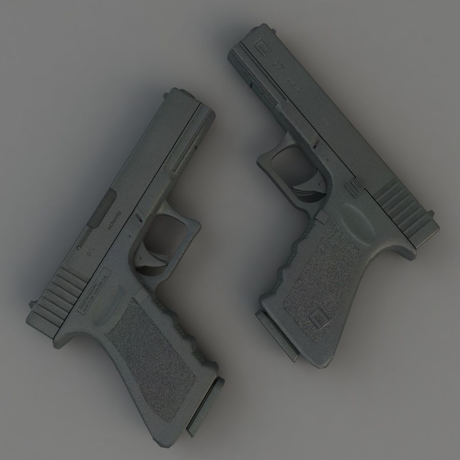Glock 17 royalty-free 3d model - Preview no. 5