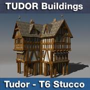 T6 Tudor style medieval building - STUCCO 3d model