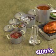 クラッタ調理器具プロフェッショナル001 3d model