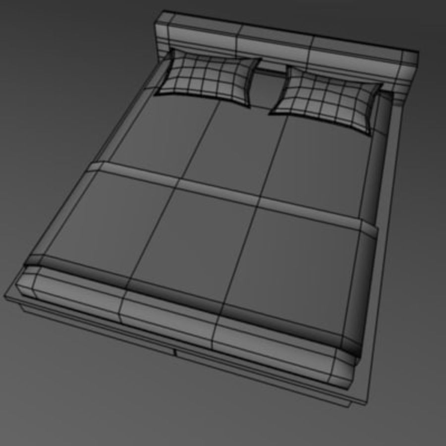 bed2.3ds royalty-free 3d model - Preview no. 3