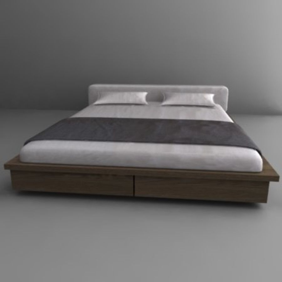 bed2.3ds royalty-free 3d model - Preview no. 1
