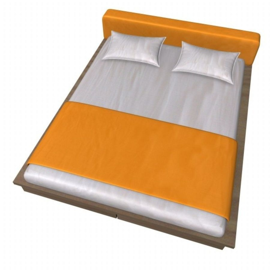 bed2.3ds royalty-free 3d model - Preview no. 2