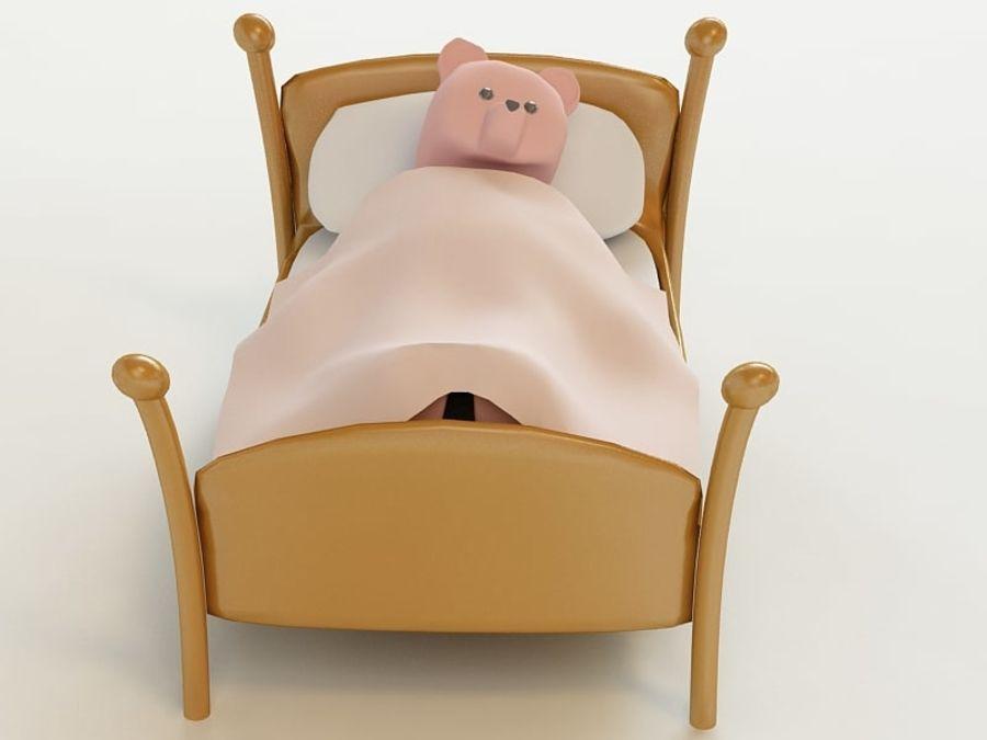 Niedźwiedź zabawka royalty-free 3d model - Preview no. 4