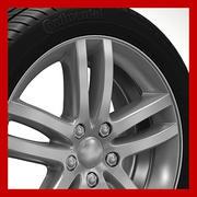 Roda (aro - pneu e disco de freio) 6 3d model