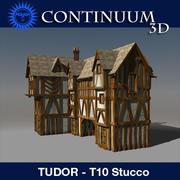 T10 Tudor style medieval building - STUCCO 3d model