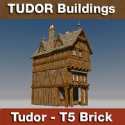 T5 - Tudor style medieval building - BRICK 3d model
