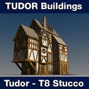 T8 Tudor style medieval building - STUCCO 3d model
