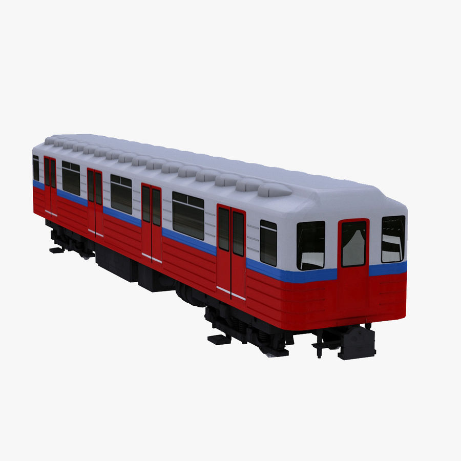 Метро Вагон royalty-free 3d model - Preview no. 1