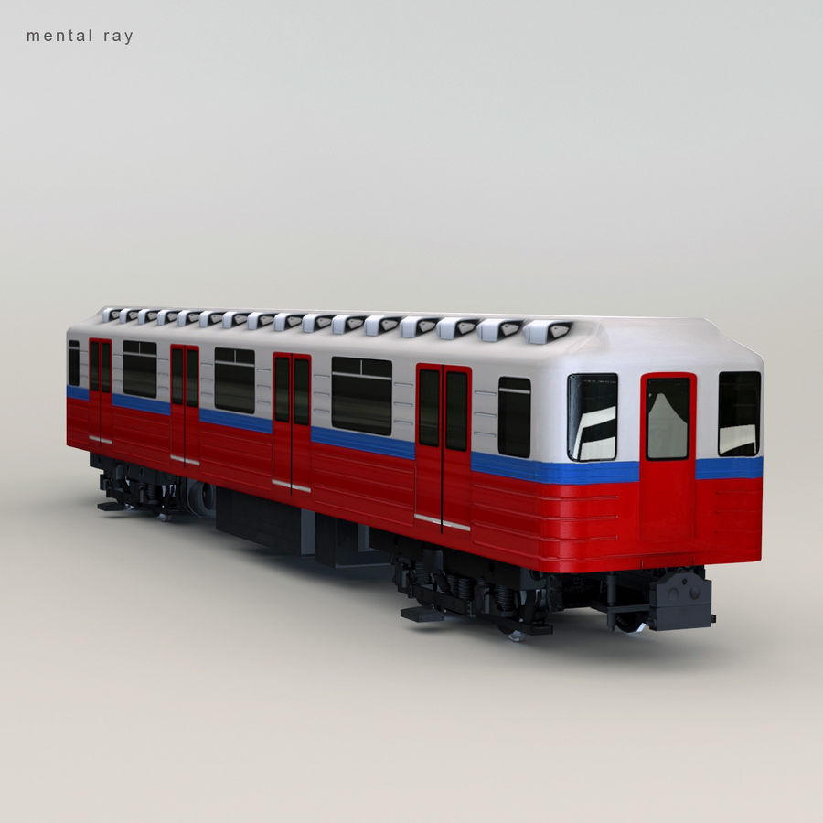 Метро Вагон royalty-free 3d model - Preview no. 8