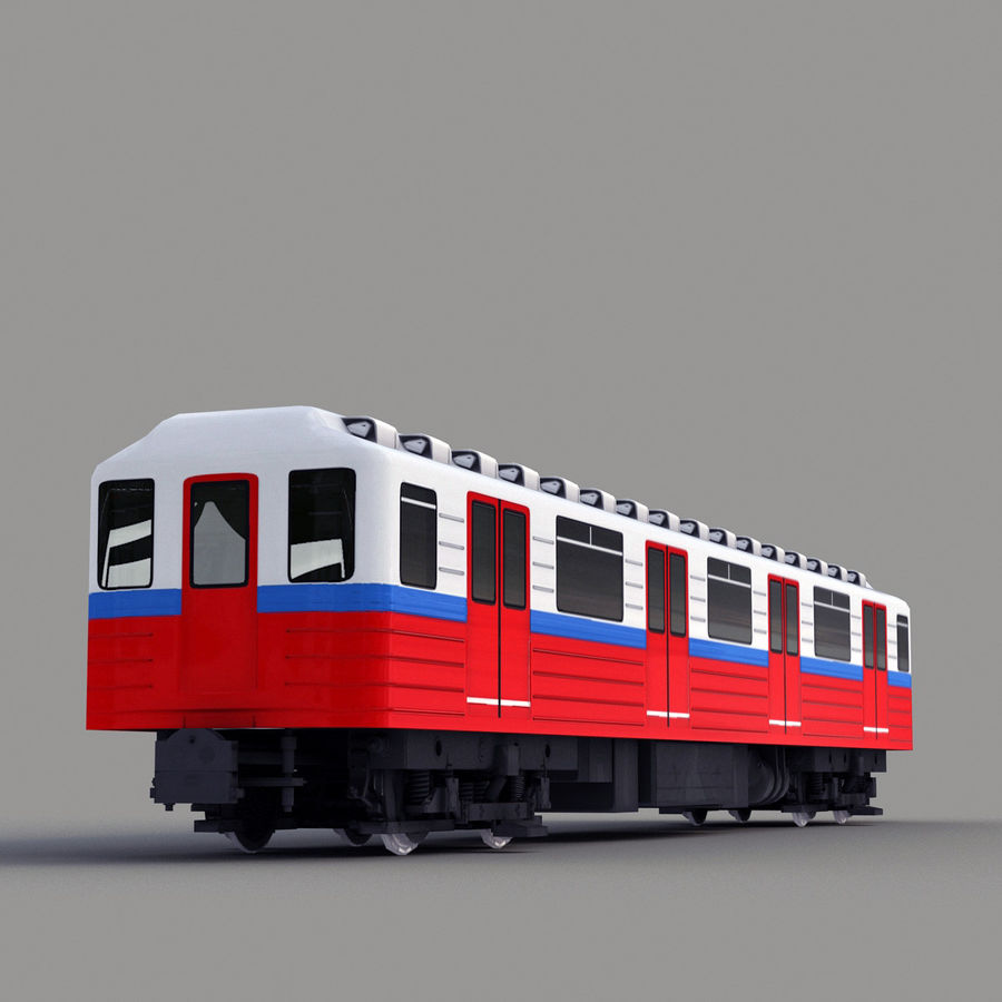 Метро Вагон royalty-free 3d model - Preview no. 3