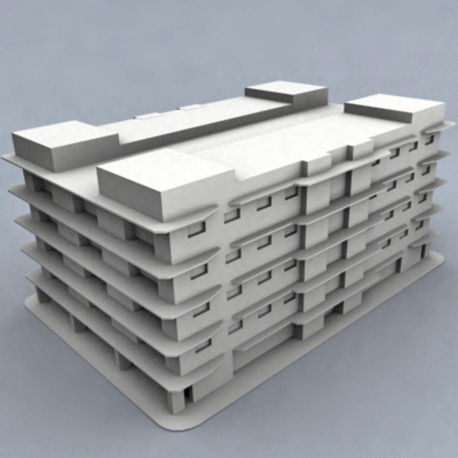 bâtiment 001 royalty-free 3d model - Preview no. 1