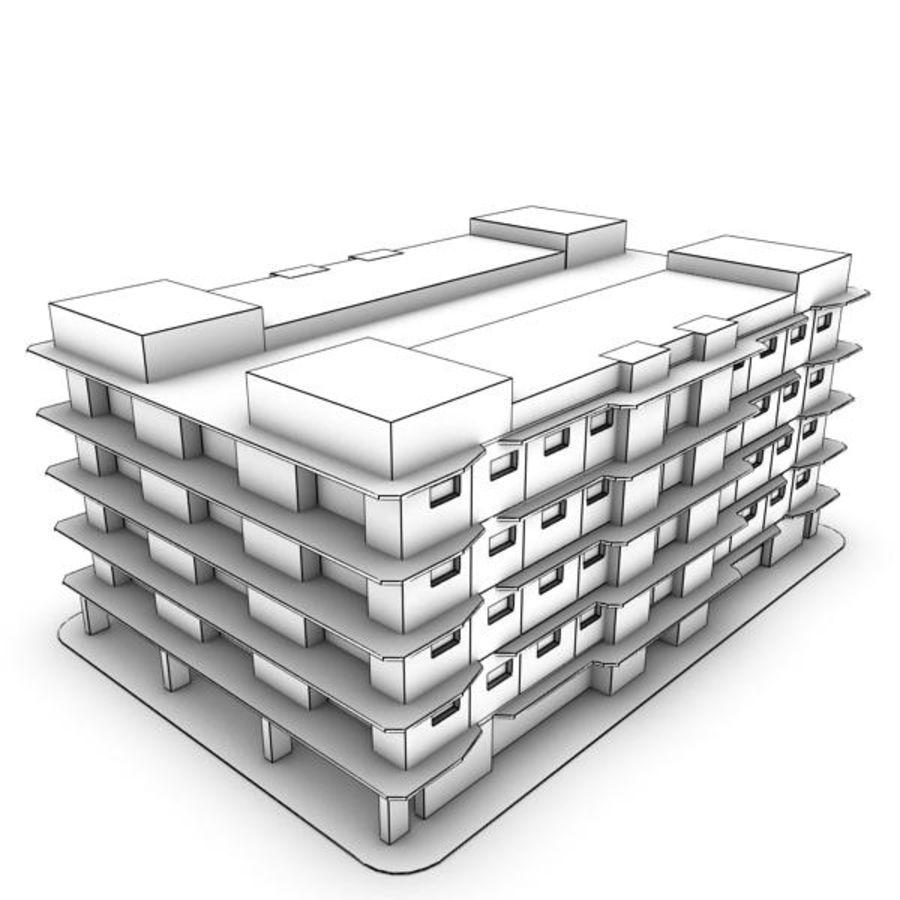 bâtiment 001 royalty-free 3d model - Preview no. 5