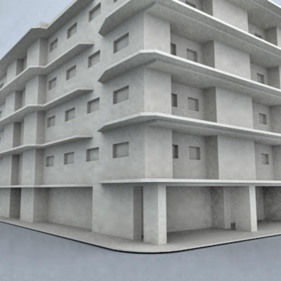 bâtiment 001 royalty-free 3d model - Preview no. 3