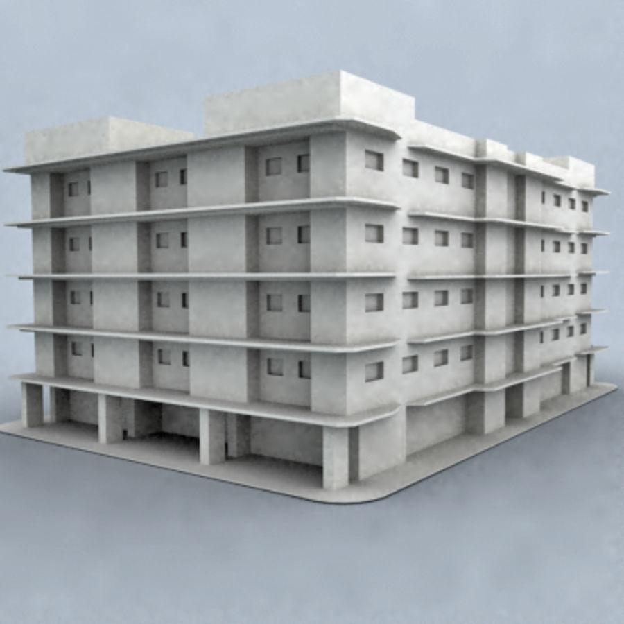 bâtiment 001 royalty-free 3d model - Preview no. 2