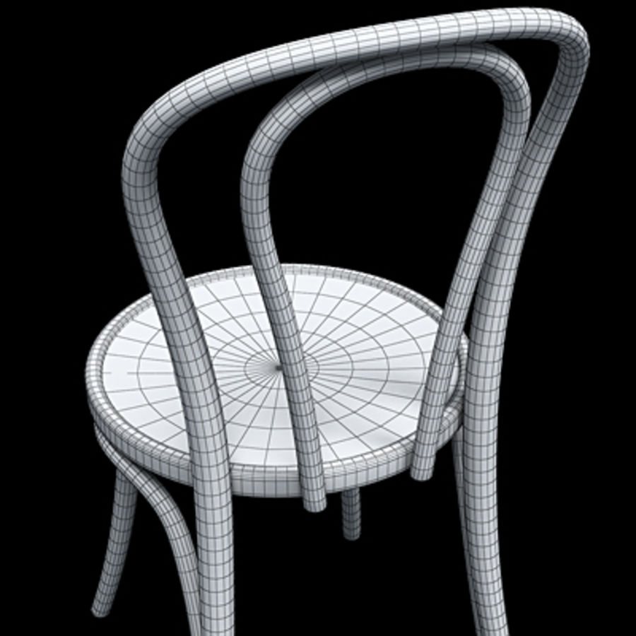 Thonet chaise n. 18 royalty-free 3d model - Preview no. 7