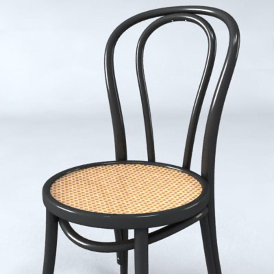 Thonet stol n. 18 royalty-free 3d model - Preview no. 5