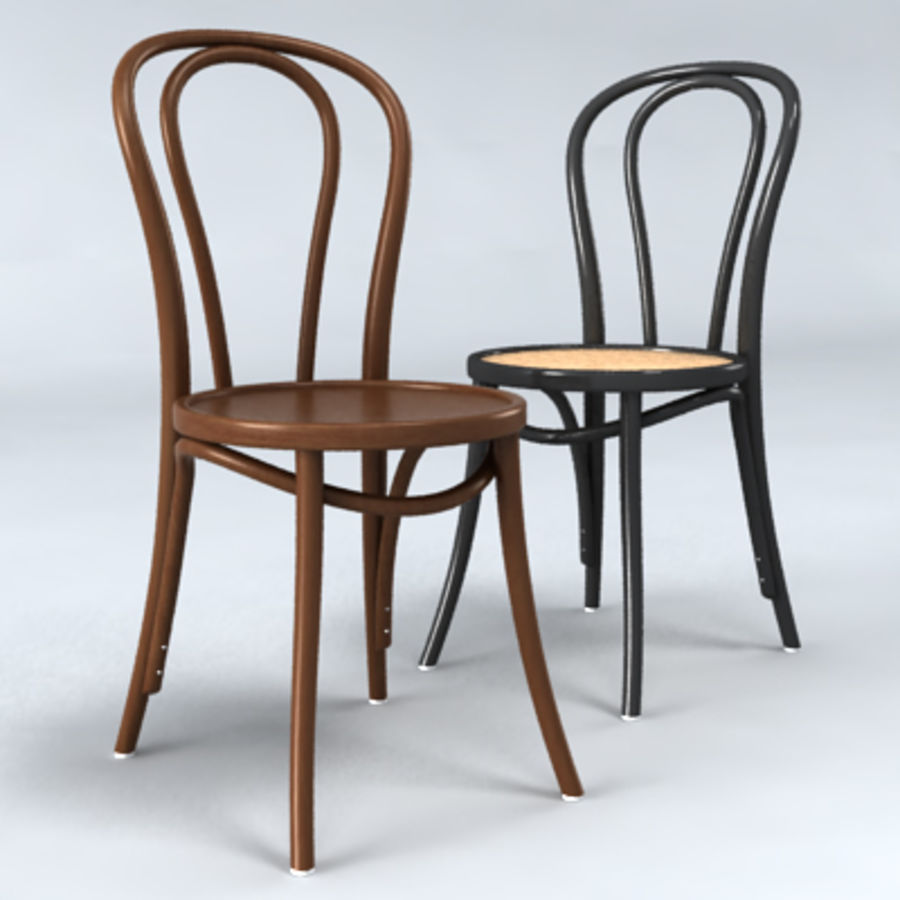 Thonet stol n. 18 royalty-free 3d model - Preview no. 1