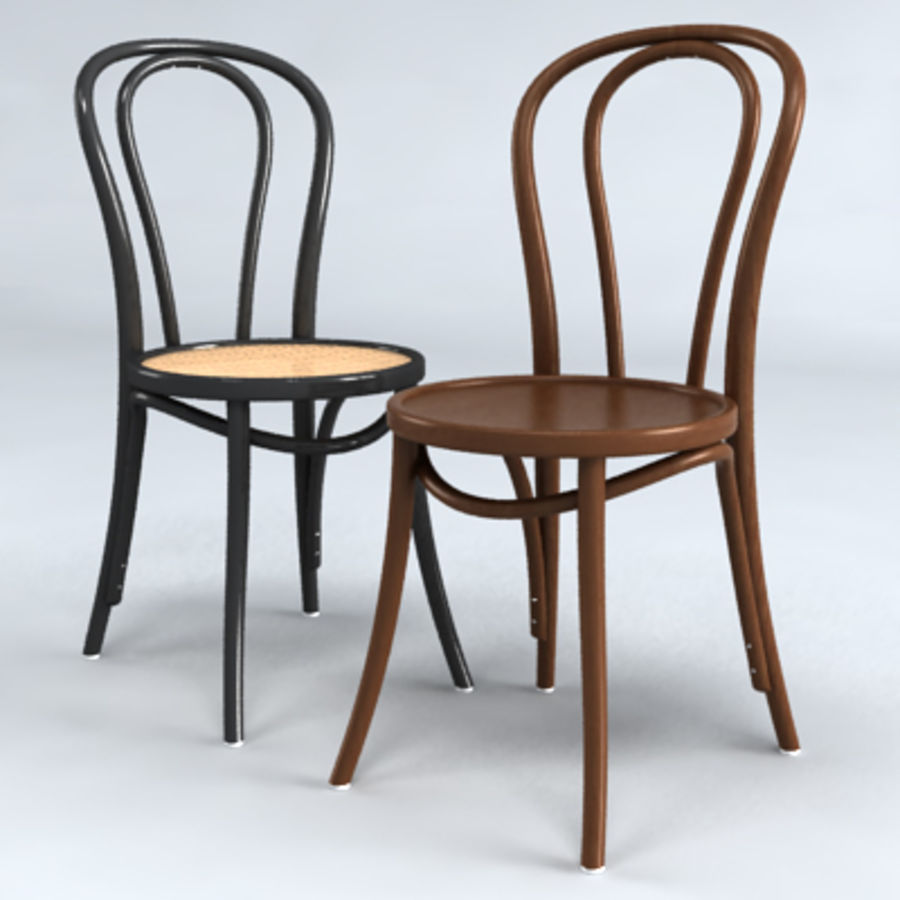 Thonet stol n. 18 royalty-free 3d model - Preview no. 2
