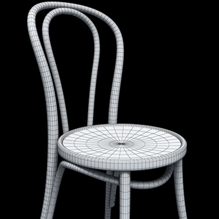 Thonet stol n. 18 royalty-free 3d model - Preview no. 6