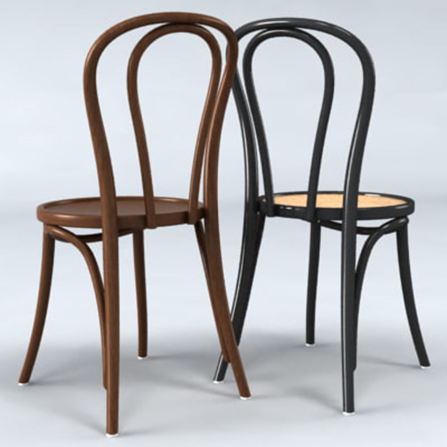 Thonet stol n. 18 royalty-free 3d model - Preview no. 3
