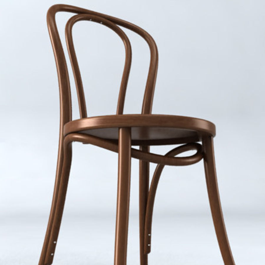Thonet stol n. 18 royalty-free 3d model - Preview no. 4