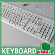 Midpoly keyboard 3d model