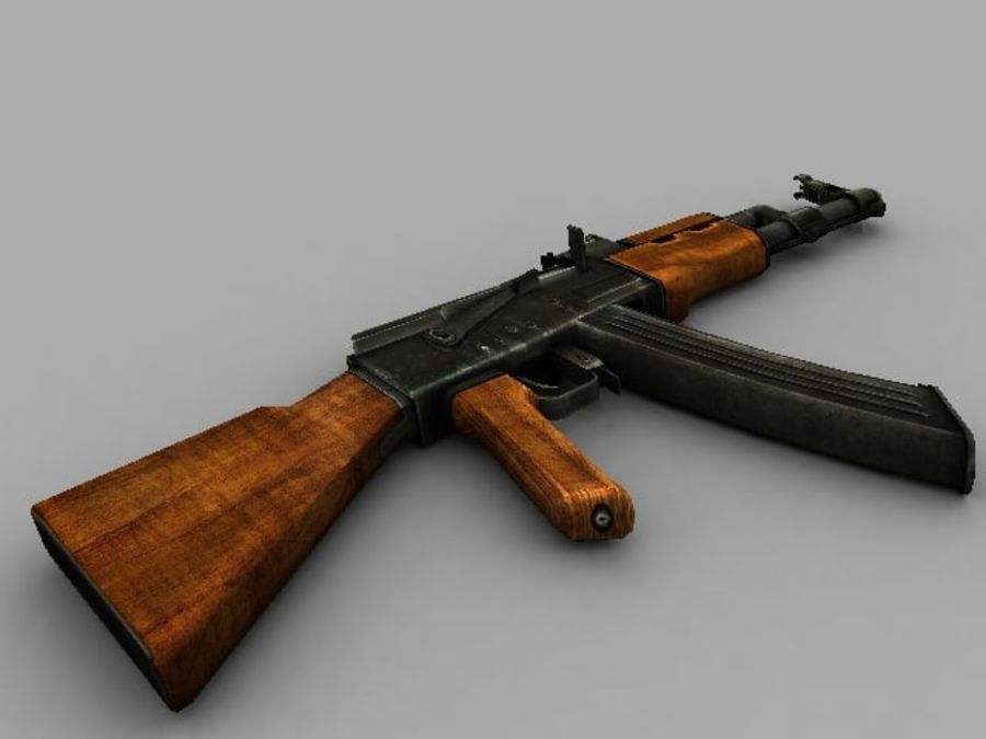 ak47.zip royalty-free 3d model - Preview no. 2