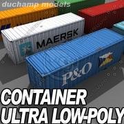 Low Poly ISO Containers 3d model
