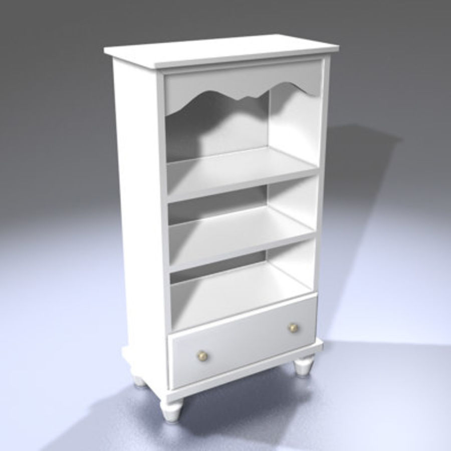 Cupboard / Cabinet (white) royalty-free 3d model - Preview no. 2