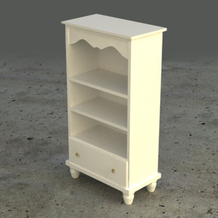 Cupboard / Cabinet (white) royalty-free 3d model - Preview no. 3