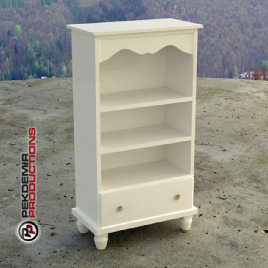 Cupboard / Cabinet (white) royalty-free 3d model - Preview no. 1