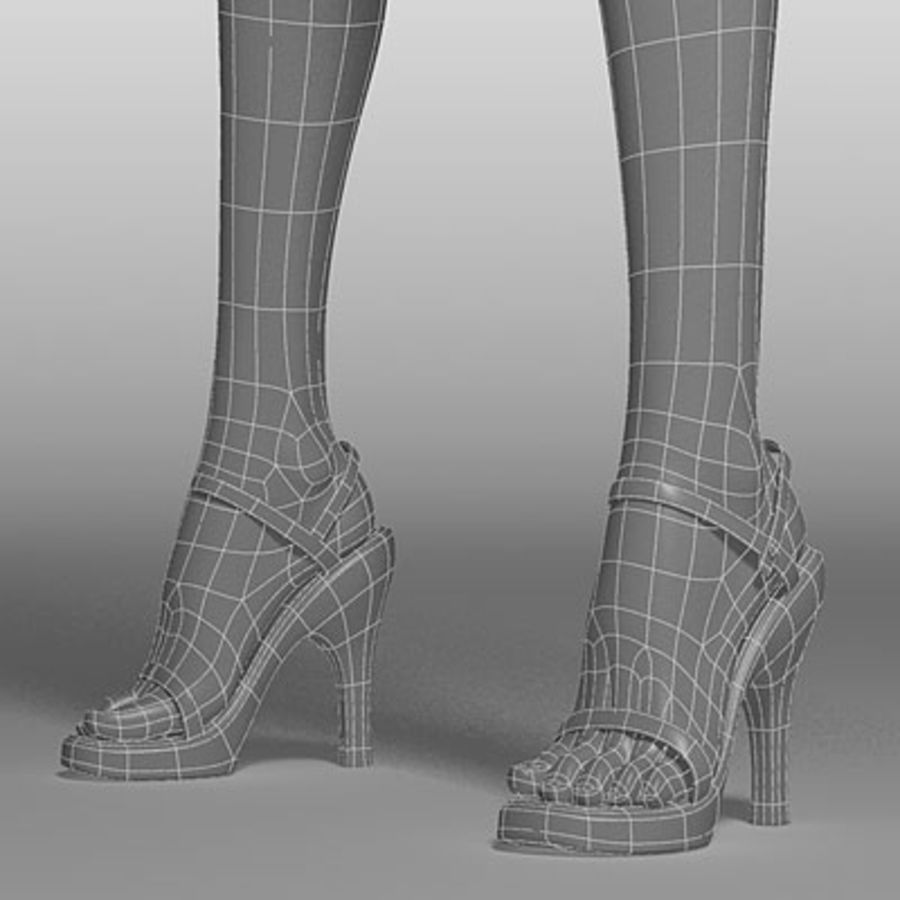 Mari (3ds) royalty-free 3d model - Preview no. 5