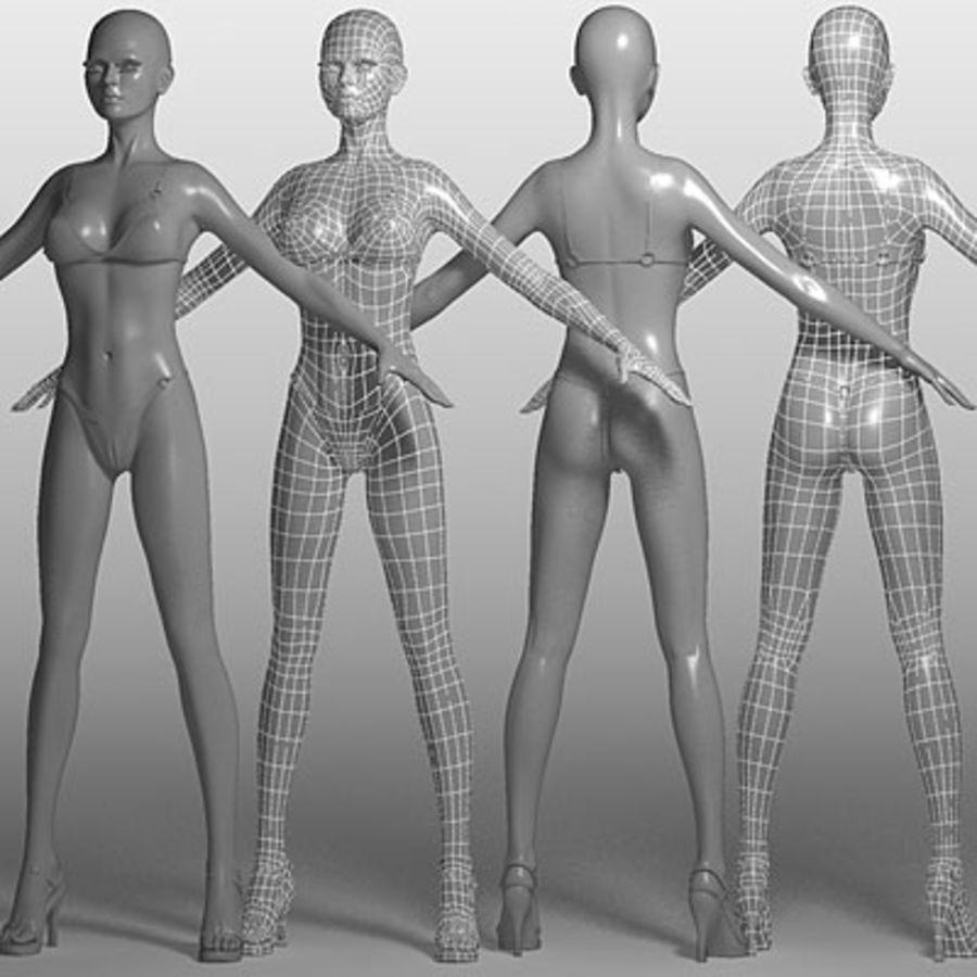 Mari (3ds) royalty-free 3d model - Preview no. 2