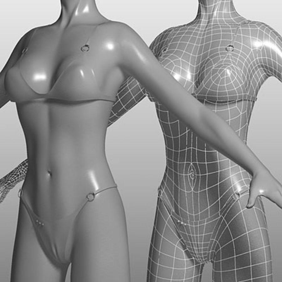Mari (3ds) royalty-free 3d model - Preview no. 3