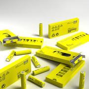 宜家碱性电池AAA 3d model
