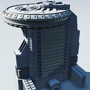 edificio moderno SF3 3d model
