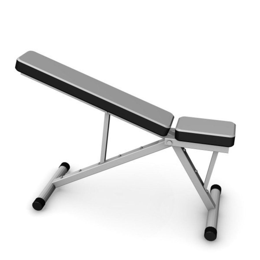 palestra bench3.3ds royalty-free 3d model - Preview no. 2
